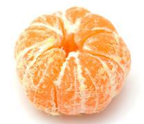 Stock Photo of tangerine on white background