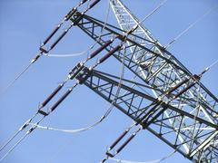Power line detail Stock Photos