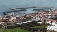 Stock Photo of coastal settlement at the azores