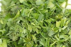 Chopped parsley. macro Stock Photos