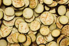 Diced eggplant Stock Photos