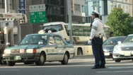 Stock Video Footage of Traffic police in Japan