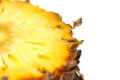Pineapple as a background. macro Stock Photos