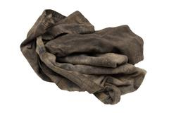 dirty rag on a white background - stock photo