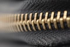 zipper shut. macro - stock photo