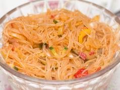 funchoza. korean salad - stock photo