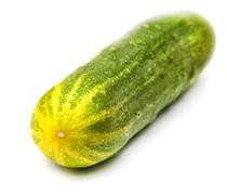 Cucumber on white background Stock Photos
