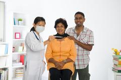 Indian senior doctor appointment medical checkup Stock Photos