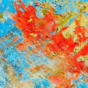 variegated texture of wall - stock photo