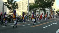 Stock Video Footage of Traditional drum band during Japanese festival