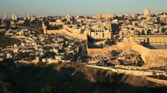 Jerusalem Cityscape, Israel Stock Footage