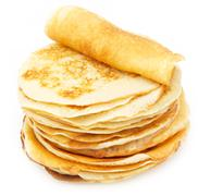 delicious sweet pancakes - stock photo