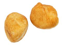 fried pies with meat on a white background - stock photo