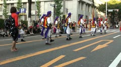 Music and singing at traditional parade in Japan Stock Footage