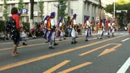 Stock Video Footage of Music and singing at traditional parade in Japan