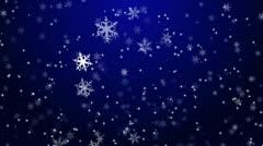 Christmas Snowflakes Stock Footage