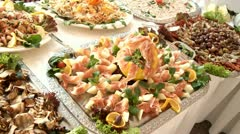 Catering Buffet Stock Footage