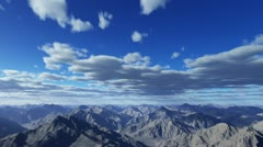 flying through the clouds and the mountains - stock footage