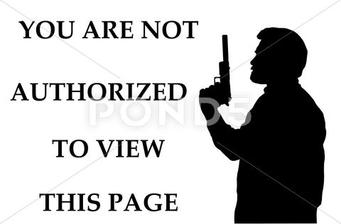 Stock Illustration of not authorized to view page