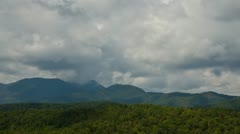 Timelapse of Clouds Building Up Into a Storm over the Blue Ridge Mountains Stock Footage