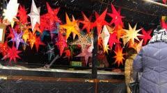 Stock Video Footage of Europe Germany Munich Marienplatz Christmas Advent Fair Market Xmas stall