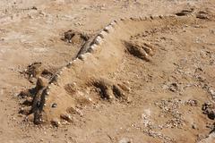 sand figure - stock photo
