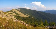 Mountain stony view Stock Photos