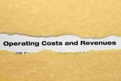 operating costs and revenues - stock photo