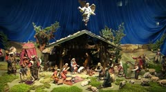 Europe Germany Munich Christmas Advent Nativity Adoration Shepherds Stock Footage