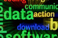 Data download Stock Illustration