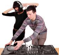 Techno party.JPG Stock Photos
