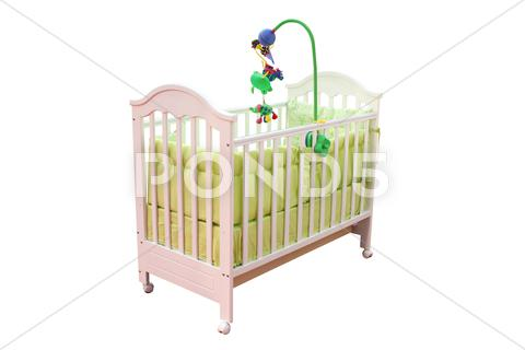 Stock photo of crib isolated on white.JPG