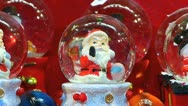 Germany Munich Christmas Advent Fair Market Xmas Santa Claus Glass Ball Stock Footage