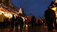 Europe Germany Munich Marienplatz Christmas Advent Fair Market Xmas Stock Footage