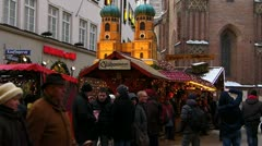 Stock Video Footage of Europe Germany Christmas Advent Fair Market Xmas