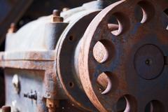 Grunge industrial engine failed Stock Photos
