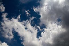 Sky with clouds in the background Stock Photos
