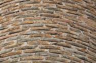 Factory brick chimney background Stock Photos
