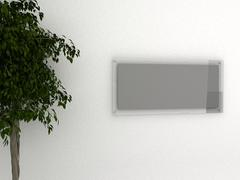 Stock Photo of glass frame on the wall
