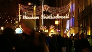 Europe Germany Munich Christmas Xmas Advent market fair Christkindlmarkt Stock Footage