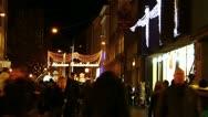 Europe Germany Munich Christmas Xmas Advent market fair Christkindlmarkt Stock Footage