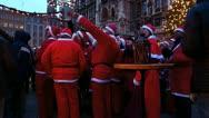 Europe Germany Munich Christmas Xmas Advent market fair Stock Footage