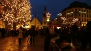 Europe Germany Munich Christmas Xmas Advent market fair Stock Footage