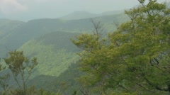 Blue Ridge Mountains on a Sunny and Cloudy Day Stock Footage