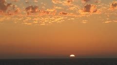 Pacific Ocean Sunset Stock Footage
