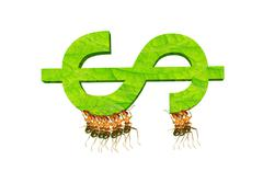 Ants and dollar Stock Illustration