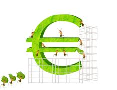 Ants and  euro Stock Illustration