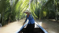 Boat on the Mekong Delta. Ho Chi Minh. Vietnam. Stock Footage