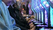 Stock Video Footage of Japan, gambling, addiction, neon, pinball, casino, slot machine, Asia, nightlife