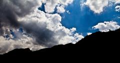 sky with clouds in the background - stock photo